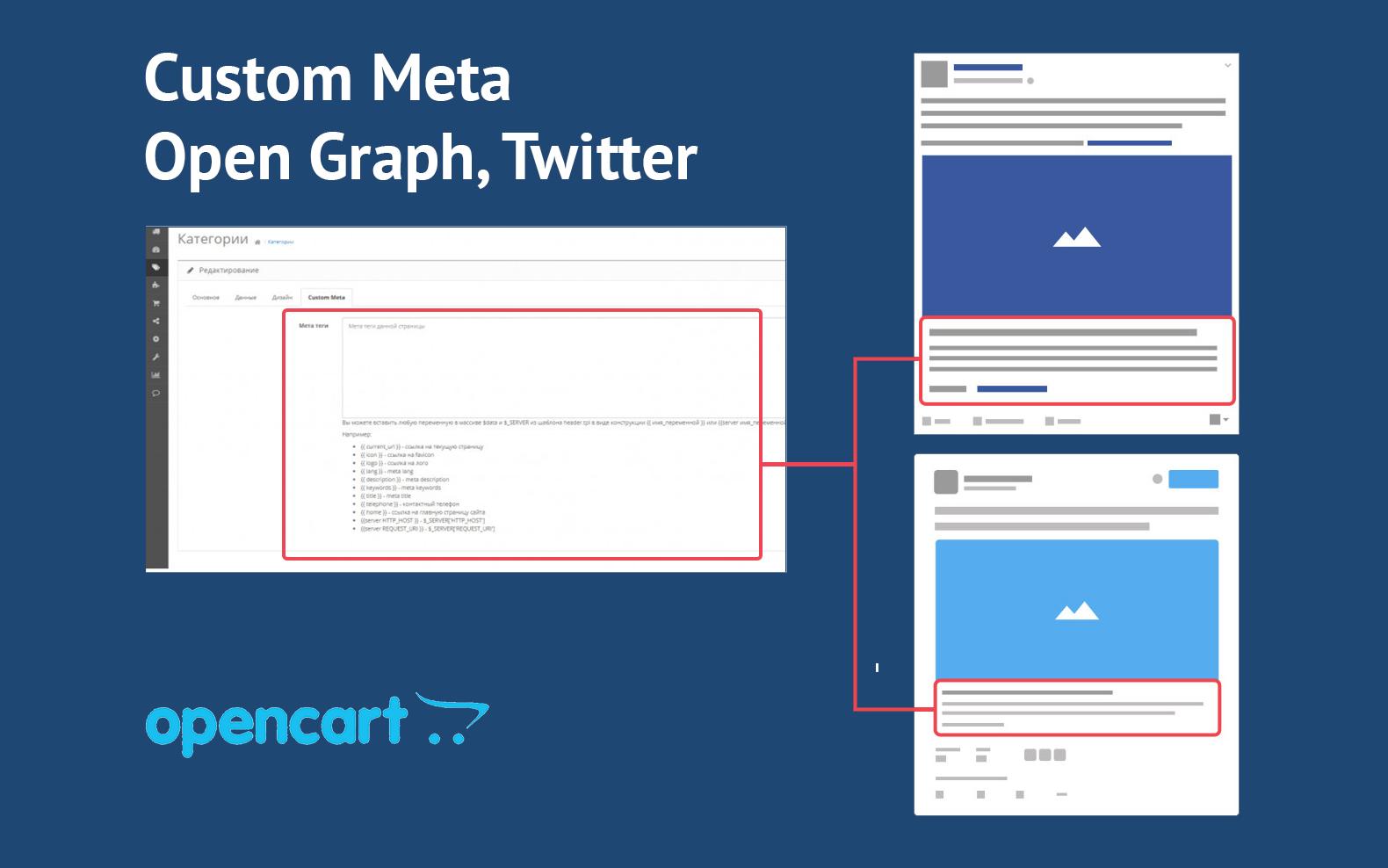 Custom Meta / Open Graph, Twitter